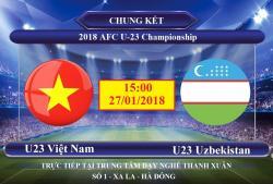 TRỰC TIẾP CHUNG KẾT U23 VIỆT NAM VS U23 UZBEKISTAN TẠI TRUNG TÂM DẠY NGHỀ THANH XUÂN