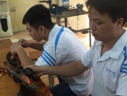 Bài thực hành quấn dây quạt bàn 16 rãnh của lớp sửa chữa điện dân dụng