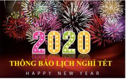 THÔNG BÁO NGHỈ TẾT NGUYÊN ĐÁN NĂM 2020
