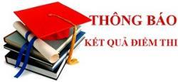 Thông báo điểm thi tốt nghiệp môn chuyên ngành tháng 11.2018