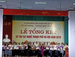 Tổng kết kỳ thi tay nghề Thành Phố Hà Nội năm 2018